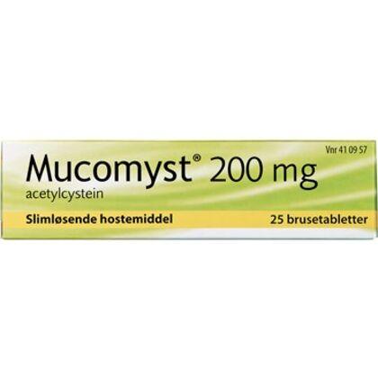 Mucomyst Brusetabletter 200 mg (25 stk)