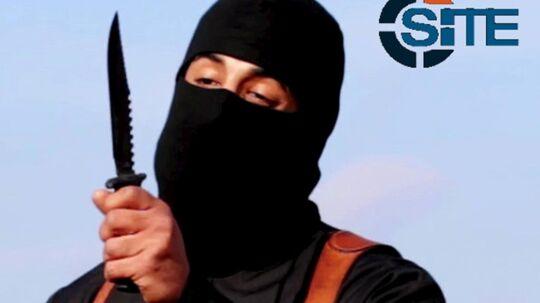 Det var sådan, han var kendt, Jihad John, som den maskerede brutale IS- morder. Foto: Reuters