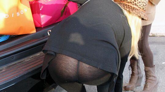 Her bukker Paris Hilton sig efter en lille tøjkanin - det skulle hun nok ikke have gjort.