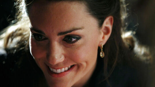 Kate Middleton, fiancee of Britain's Prince William, smiles during a visit to Darwen Aldridge Community Academy, in Darwen, northern England April 11, 2011. The couple were at the academy to officially open the centre and also to launch the SkillForce Prince's Award, which recognise the contribution that young people make to their communities. REUTERS/Adrian Dennis/Pool (BRITAIN - Tags: ENTERTAINMENT ROYALS SOCIETY)