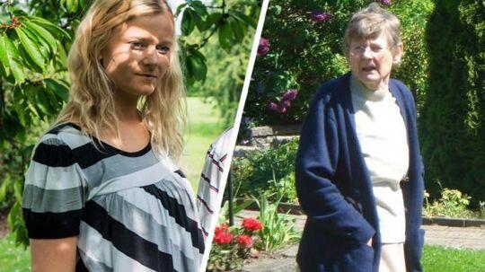 BT-journalist Charlotte Bo Qvist og hendes farmor.