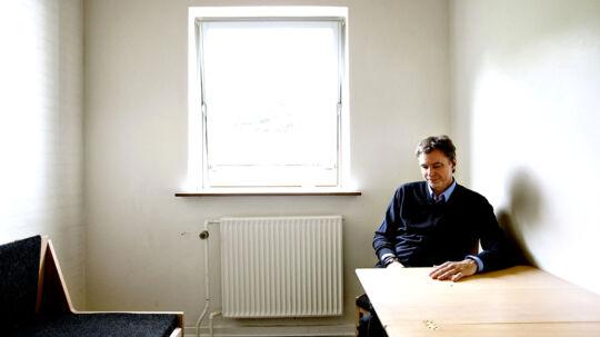 Finansmanden Klaus Riskær Pedersen fotograferet i Sdr. Omme Statsfængsel.