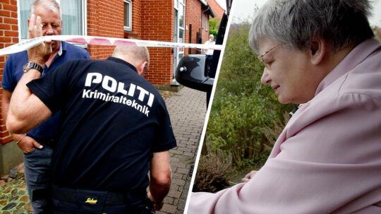 Den 77-årige Else Johannesen fra Lemvig (th) blev fundet dræbt i sin seng, da en hjemmehjælper låste sig ind i hendes lejlighed lørdag klokken 09.59. En 15-årig dreng fra Lemvig er sigtet for drabet.