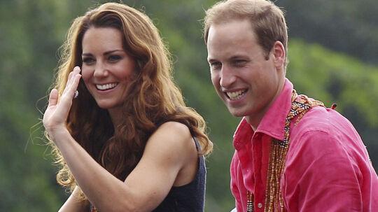 Prins William og Kate, Hertuginden af Cambridge, ses her under et besøg på Marapa Island, Solomonøerne.
