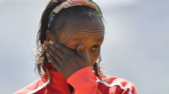 Kenyanske Jemima Jelagat Sumgonger blevet taget for doping.