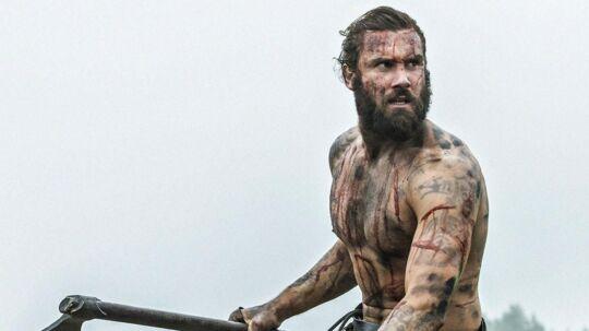 Skuespilleren Clive Standen i rollen som vikingekrigeren Rollo i HBO Nordics TV-serie 'Vikings'. RB PLUS: