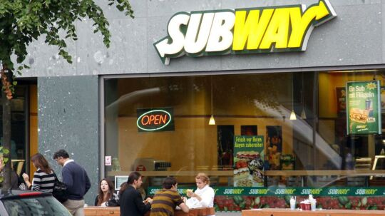 Subway spisested i Berlin.