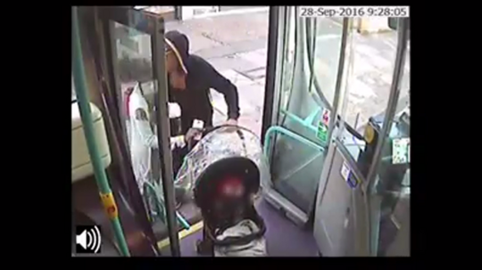 Overvågningsbilleder viser den lille familie gå ombord på bussen. Kort efter var helvede løs, men det hele var et forsøg på at dække over Imanis død - som var forårsaget af forældrenes vold mod hende.
