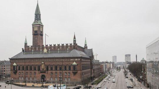 Der er strømafbrydelsen omkring Rådhuspladsen i København. Arkivfoto.