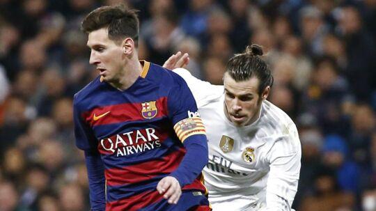 Gareth Bale (th) er klar til at spille, når Real Madrid søndag tager imod FC Barcelona.