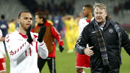 Martin Braithwaite (tv.) har været kritisk over for landstræner Åge Hareide.
