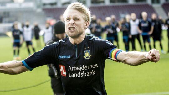 Johan Larsson scorede kampens enlige mål, da Brøndby vandt over FCN på udebane.