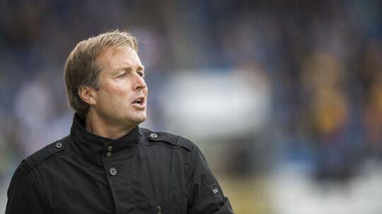 FCN-træner Kasper Hjulmand: »Det var os, der pressede på, og jeg er stolt af, at vi skabte så mange chancer, og at det var os, der dikterede kampen. Det kan jeg være glad for og tage med,.«