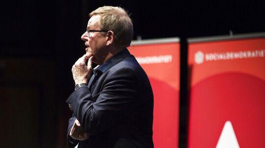 Socialdemokraitets principprogram fremlægges i Odeon i Odense. Poul Nyrup Rasmussen holder tale.. (Foto: Carsten Bundgaard/Scanpix 2017)