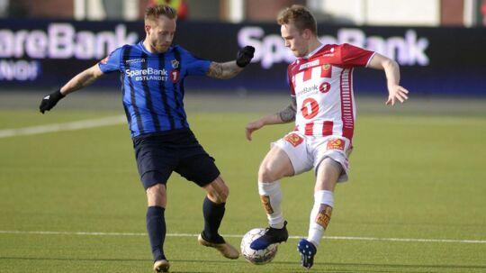 Tonny Brochmann (tv) scorede to mål, da Stabæk tævede Tromsø 3-0.