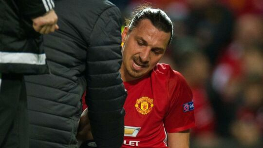 Zlatan Ibrahimovic blev skadet i torsdags.