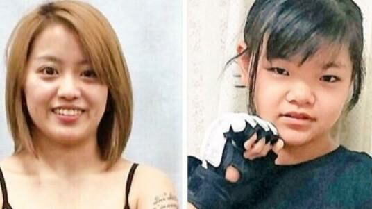 MoMo til højre og Momoko Yamasaki til venstre