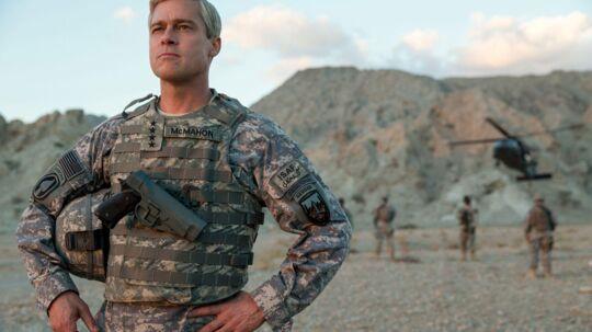 Brad Pitt Spiller amerikansk general i Afghanistan i »War Machine« der har premiere på Netflix i maj.