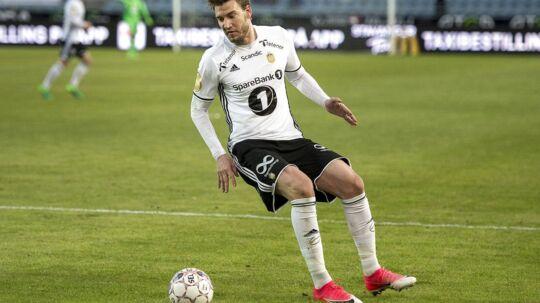 Rosenborgs Nicklas Bendtner i aktion mod Viking på Viking stadion.