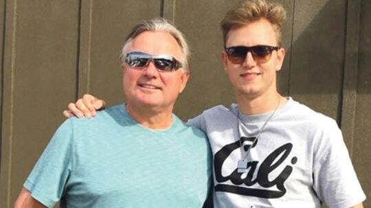 Morten Andersen (tv.) og Simon Mathiesen (th.) mødtes i begyndelsen af april i Atlanta, hvor det blev til en lang samtale og lidt træning på et lokalt gymnasium.