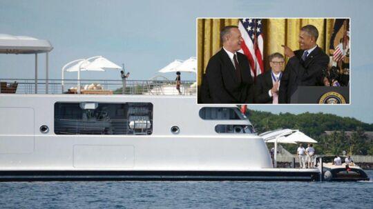 Det var prominent selskab, som Tom Hanks var del af på Dave Geffens yacht.