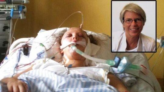 Neurokirurgen Benedicte Dahlerup (lille billede) begyndte blandt andet at tabe efter året på grund af stress efter den massive opmærksomhed, hun fik i dokumenatren 'Pigen der ikke ville dø' om den dengang 19-årige Carina Melchior (stort billede).