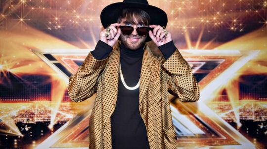 X-Factor finalen 2017 rød løber inden showet i DR-byen. Gulddreng, der skal optræde i showet.