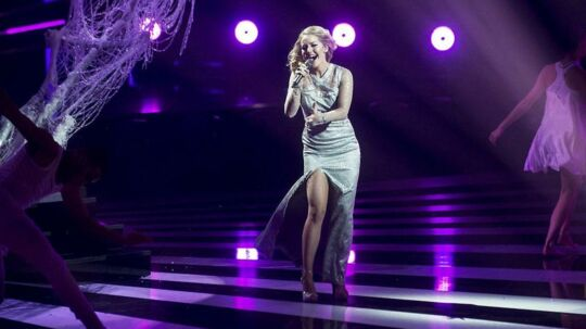 Melodi Grand Prix 2016. Sang nummer 2 'Heart Shaped Hole' sunget af Simone Egeriis.