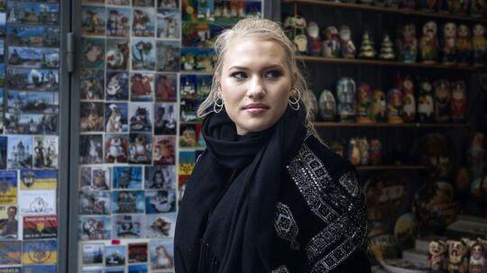 Anja Nissen i Ukraine for at repræsentere Danmark i Eurovision.