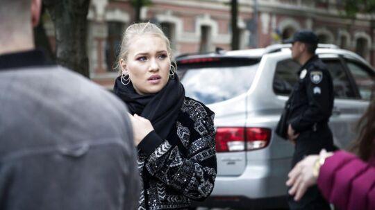 Tirsdag viste den danske deltager ved dette års Eurovision - Anja Nissen - rundt i de ukrainske gader i Kiev, hvor konkurrencen bliver afholdt i denne uge.