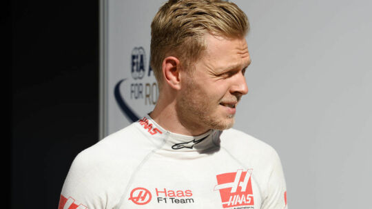 Kevin Magnussen (Haas-Ferrari) after qualifying for the 2017 Russian Grand Prix in Sochi Photo: Grand Prix Photo. (Foto: /Scanpix 2017)