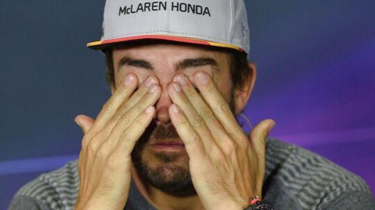 Fernando Alonso er ærgerlig over, at McLaren ikke laver nogen resultater.
