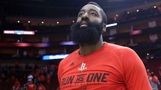 James Harden spiller for Houston Rockets.