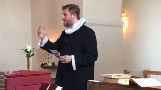 Præsten Martin Bonde Eriksen.