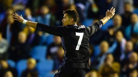 Cristiano Ronaldo åbnede målscoringen, da Real Madrid slog Celta Vigo.