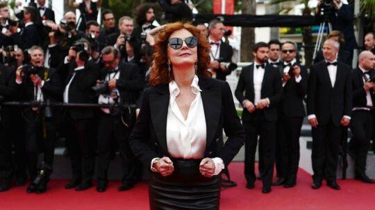 Her ses hun på den røde løber til filmfestivalen i Cannes.