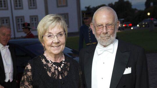 Her ses den daværende kulturminister Marianne Jelved og hendes mand Jan til gallamiddag på Fredensborg Slot onsdag i 2013 i anledningen af vietnamesisk statsbesøg.