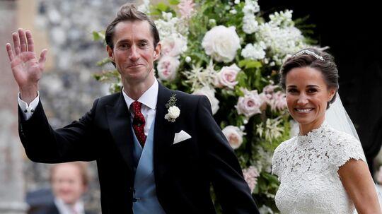 Pippa Middleton blev lørdag gift med James Matthews.