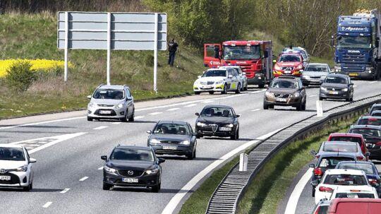 Politiet har i denne uge fokus på bilister, der ikke holder til højre på motorvejen. ARKIVFOTO.