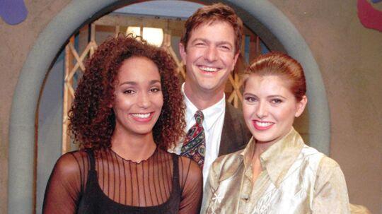 Fra Eleva2ren i 1994. Her med Thea Høymans, Ole Stephensen og hugofører Nina Klinker Jørgensen. NORDFOTO 1994