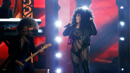 """2017 Billboard Music Awards - Show - Las Vegas, Nevada, U.S., 21/05/2017 - Cher performs """"If I Could Turn Back Time"""". REUTERS/Mario Anzuoni"""