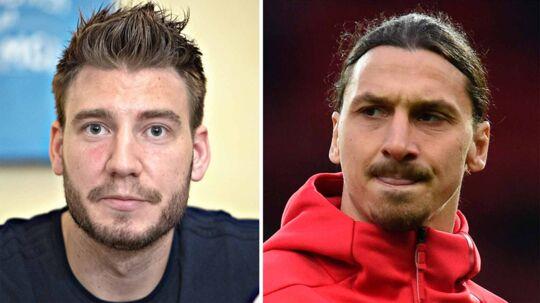 Nicklas Bendtner og Zlatan Ibrahimovic
