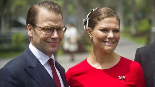 Kronprinsesse Victoria med sin mand prins Daniel.