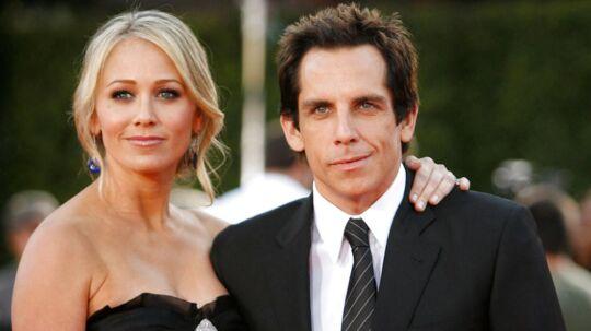 Her ses Ben Stiller og Christine Taylor. REUTERS/Mario Anzuoni/arkivfoto