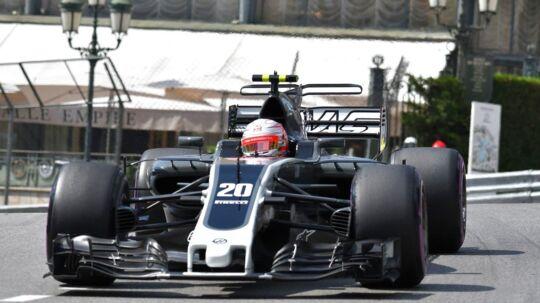 Kevin Magnussen var hurtigere end Romain Grosjean.