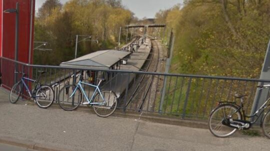 Google Streetview ved Husum Station.