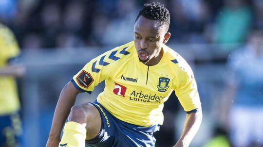 Lebogang Phiri er blandt de spillere, der ikke får kontrakten forlænget i Brøndby.