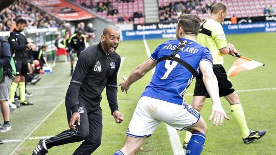 Lyngby-træner David Nielsen: »Vi har slået Brøndby, FC København og FC Midtjylland på rap. Spillerne er klar til en europæisk udfordring.«