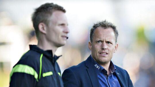 Jakob Michelsen kigger skeptisk mod en fjerdedommer i Superligaen. Arkivfoto.