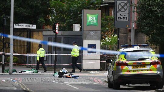 Politiet har været stærkt til stede i London både lørdag aften og søndag.